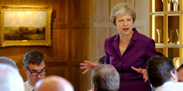 """Theresa May propose à l'UE une """"zone de libre échange"""" pour l'après-Brexit."""