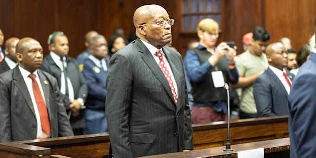 Former South African president Jacob Zuma appears in court in Durban, South Africa, June 8, 2018.