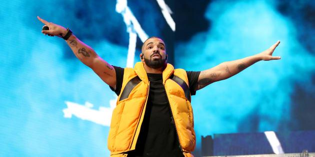 Drake lors de son concert à Coachella le 15 avril 2017.