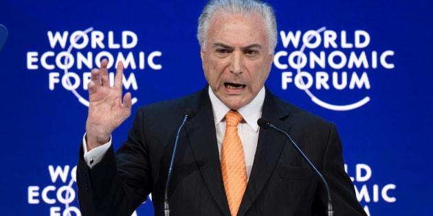 Presidente Michel Temer no Fórum Econômico Mundial, em Davos, na Suíça.