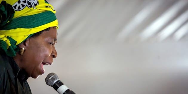 Nkosazana Dlamini-Zuma addresses her first campaign rally at the African National Congress  (ANC) Cadres' Forum on September 24, 2017.
