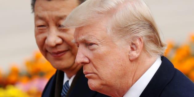 Donald Trump et Xi Jinping à Pékin, en décembre.