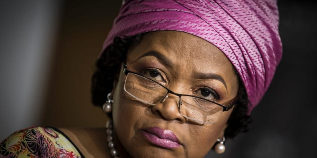 Speaker of the South African National Parliament, Baleka Mbete.