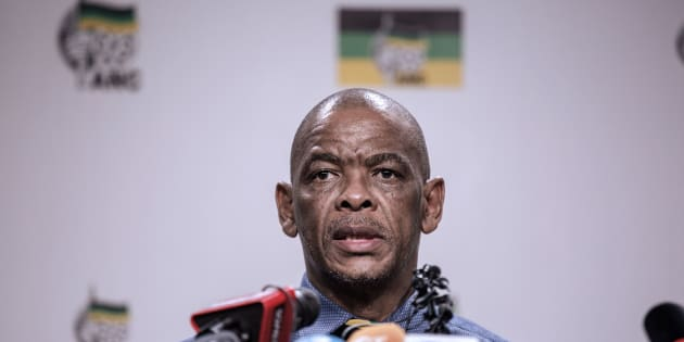 ANC secretary general Ace Magashule at a press briefing in Johannesburg on February 13 2018.