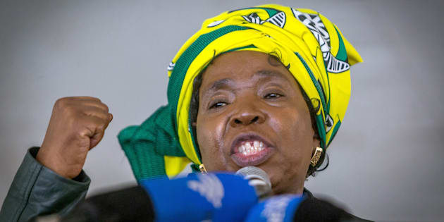 Candidate for South Africa's ruling party leadership Nkosazana Dlamini-Zuma addresses her first campaign rally at the African National Congress ( ANC) Cadres Forum on September 24, 2017 in Harding.
