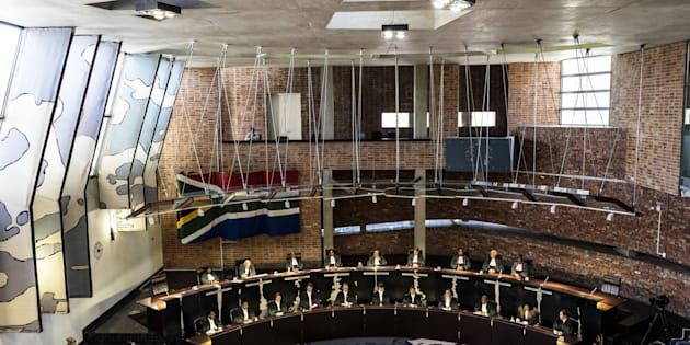 The Constitutional Court sits, on March 17, 2017, in Johannesburg to deliver a ruling to resolve the social grant payment crisis in South Africa, two weeks before the current deal expires.