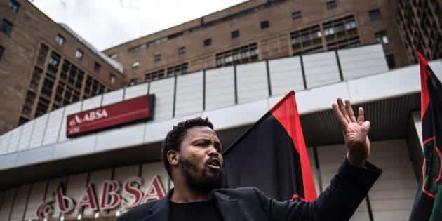 Black First Land First (BLF) leader Andile Mxgitama.