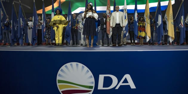 DA officials during the party's annual congress in Pretoria on April 7, 2018.