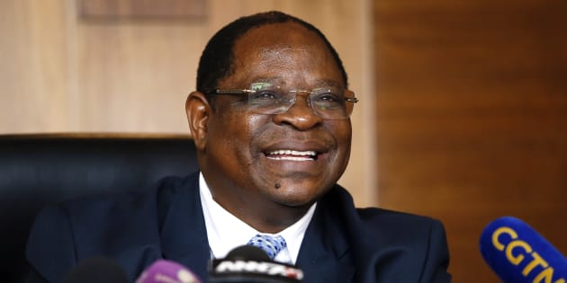 South Africa's Deputy Chief Justice Raymond Zondo, head of an investigation commission into corruption allegations at the highest levels of the state, holds a press conference on January 23, 2018 in Midrand.