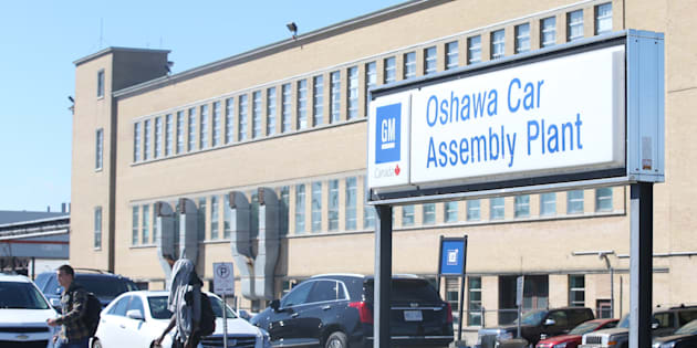 The General Motors Oshawa Assembly Plant is pictured in 2016.