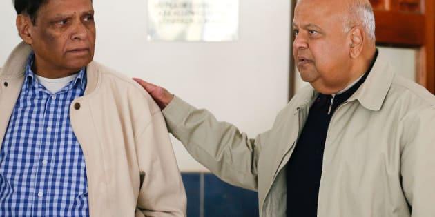 Lobbying? Pravin Gordhan and Ebrahim Ebrahim at an earlier NEC meeting.