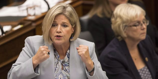 NDP Leader Andrea Horwath speaks during Question Period at the Ontario legislature in Toronto on Sept. 13, 2018.