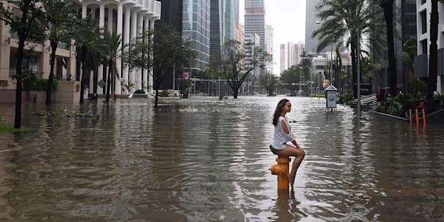 Passage de l'ouragan Irma à Miami.