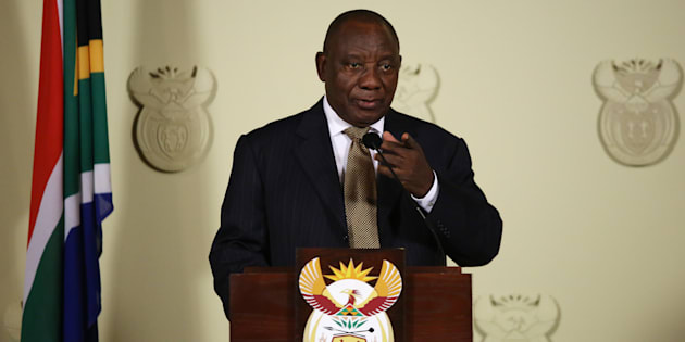 President Cyril Ramaphosa announces changes to the National Executive during a press conference at the Union Buildings on February 26, 2018, in Pretoria.