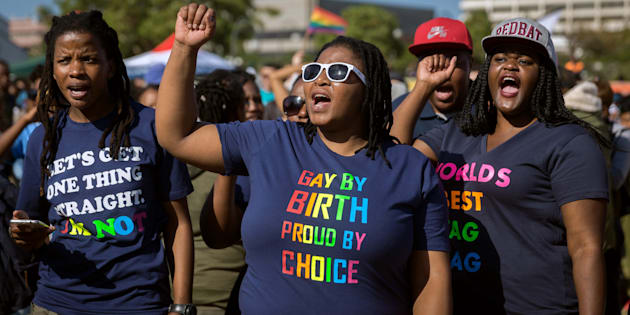 South Africans marching in the annual Gay Pride Parade during the three-day Durban Pride Festival. June 24, 2017.