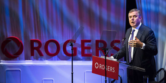 Rogers Communications CEO Joe Natale speaks to shareholders during the Rogers annual general meeting in Toronto, Fri. April 20, 2018. Rogers is cutting the size of its digital content and publishing team by about one-third.