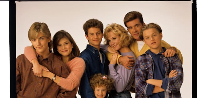GROWING PAINS - Gallery - Shoot Date: September 28, 1991. (Photo by ABC Photo Archives/ABC via Getty Images) JEREMY MILLER;TRACEY GOLD;KIRK CAMERON;ASHLEY JOHNSON;JOANNA KERNS;ALAN THICKE;LEONARDO DICAPRIO