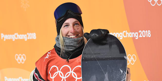Canada's Laurie Blouin won silver in slopestyle at the PyeongChang Olympics.