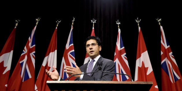 Ontario Attorney General Yasir Naqvi speaks at Queen's Park in Toronto on Oct. 28, 2015.