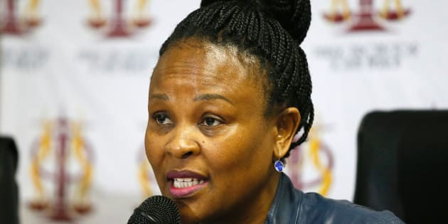 South Africa's Public Protector Busisiwe Mkhwebane speaks to journalists during a press briefing where she released reports on various investigations on June 19, 2017, in Pretoria.