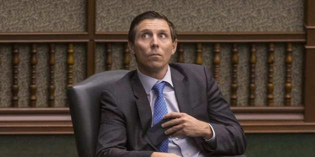 Former Ontario PC leader Patrick Brown in the Ontario legislature in Toronto on March 28, 2018.
