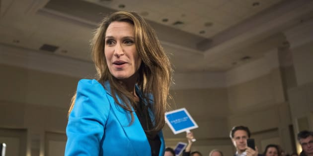 Ontario Progressive Conservative Party Leadership candidate Caroline Mulroney appears at a event in Toronto on Feb. 5, 2018.