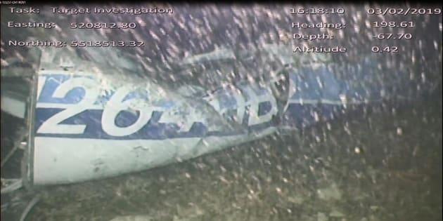La parte trasera de la avioneta en la que viajaba Emiliano Sala.