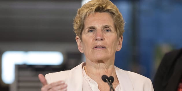 Ontario Liberal Leader Kathleen Wynne makes a policy announcement at the Finishing Trades Institute of Ontario in Toronto on May 14, 2018.
