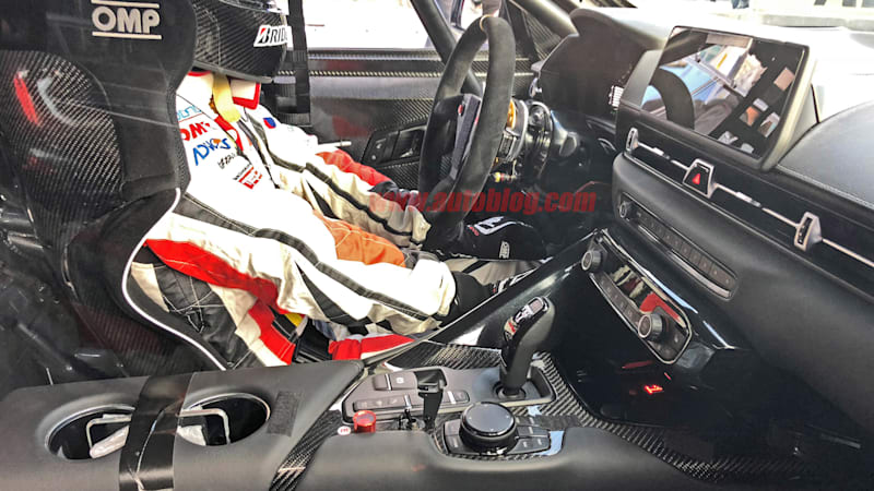 2019 Toyota Supra interior, engine spied mostly uncovered