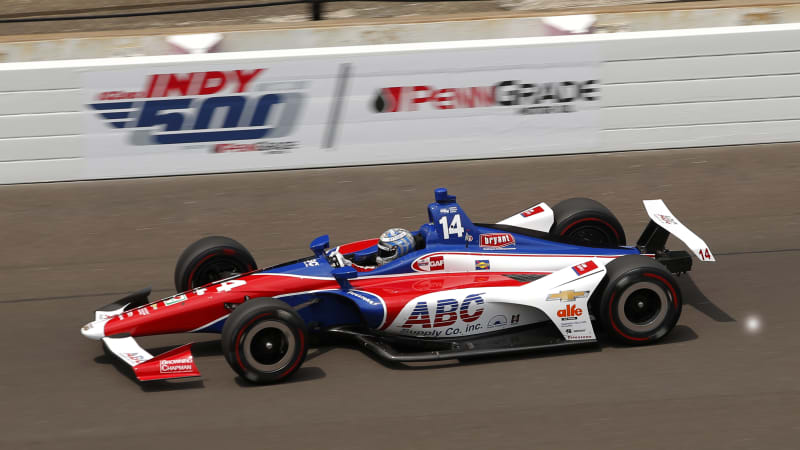 indycar-driver-tony-kanaan-of-aj-foyt-enterprises-during-the-morning-picture-id961146908