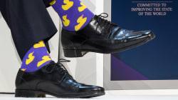 Justin Trudeau et ses chaussettes font encore