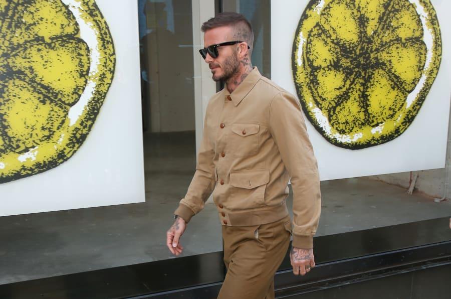 David Beckham durante la Semana de la Moda de Londres.