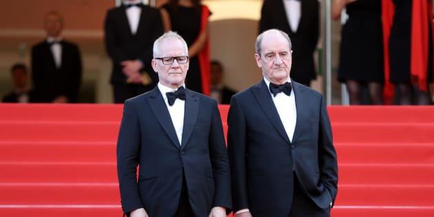 Thierry Frémaux, délégué général du festival de Cannes (à gauche), et Pierre Lescure, son président.