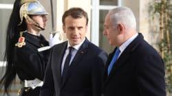 En compagnie de Netanyahu, Macron demande
