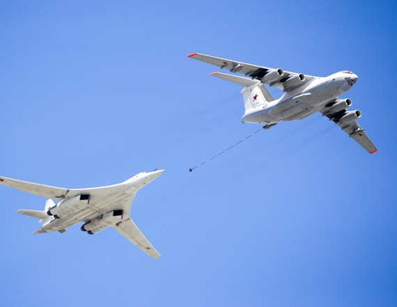 2 Russian supersonic nuclear bombers fly by Alaska