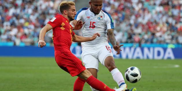 Belgique-Panama à la Coupe du monde 2018: le résumé et les trois buts belges en vidéo (Photo : le Belge Dries Mertens et Erick Davis).