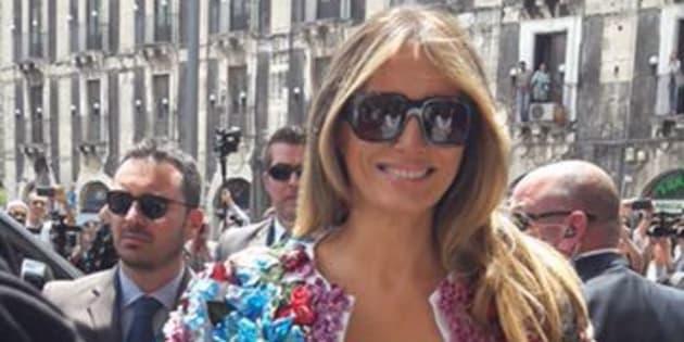 G7 Taormina, Melania svela un soprabito da 50mila dollari
