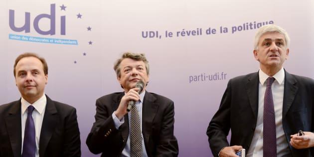 """Jean-Christophe Lagarde et Hervé Morin ne sont pas sur la même ligne. Jean-Louis Borloo trouve la situation """"pathétique""""."""