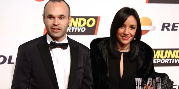 Andrés Iniesta y Anna Ortiz, en febrero de 2016.