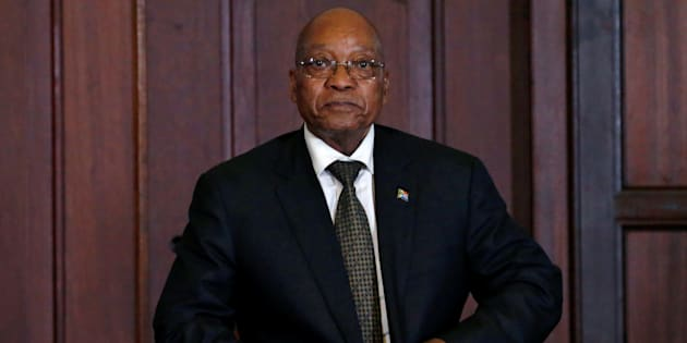 President  Jacob Zuma looks on during the swearing in of new cabinet ministers following a reshuffle that replaced Pravin Gordhan as finance minister in Pretoria, South Africa, March 31, 2017.