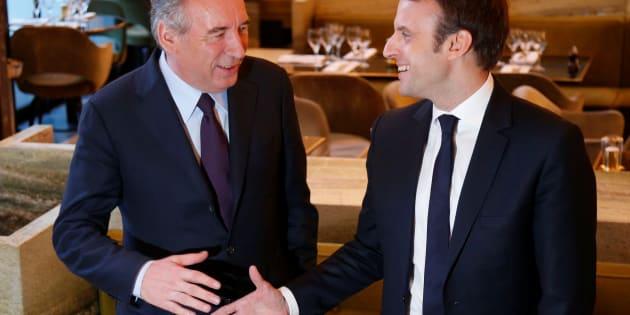 François Bayrou et Emmanuel Macron avaient scellé leur alliance dans un restaurant de l'ouest parisien.