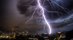 Sydney Skies Lit Up By Spectacular Lightning