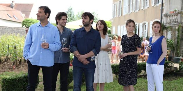 """Jean-Marc Roulot, François Civil et Pio Marmai dans le film """"Ce qui nous lie"""" de Cédric Klapisch sorti en salle le 14 juin 2017."""