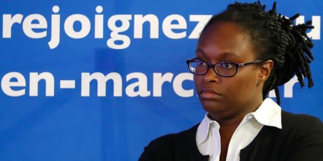 Sibeth Ndiaye lors d'une conférence de presse le 8 mai à Paris.