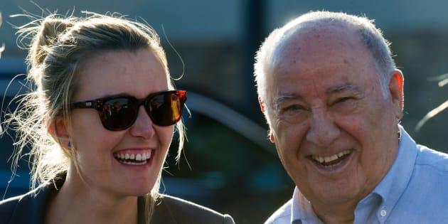 Marta Ortega, junto a su padre, Amancio Ortega, propietario de Inditex y la mayor fortuna de España.
