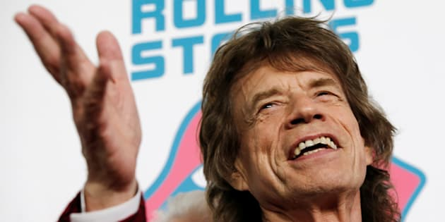 Mick Jagger à New York le 15 novembre 2016 pour la première de l'exposition sur les Rolling Stones.