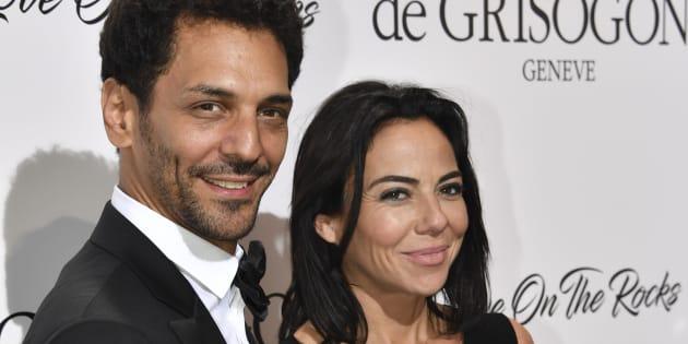 Tomer Sisley et Sandra de Matteis à la fête De Grisogono en marge du festival de Cannes le 23 mai.