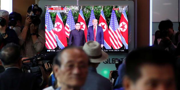 Pour les voisins de la Corée du Nord, le sommet entre Kim et Trump était bien plus qu'un spectacle, ici à Séoul.