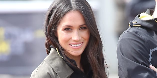 Meghan Markle attends the U.K. team trials for the Invictus Games Sydney 2018 on April 6, 2018 in Bath, England.