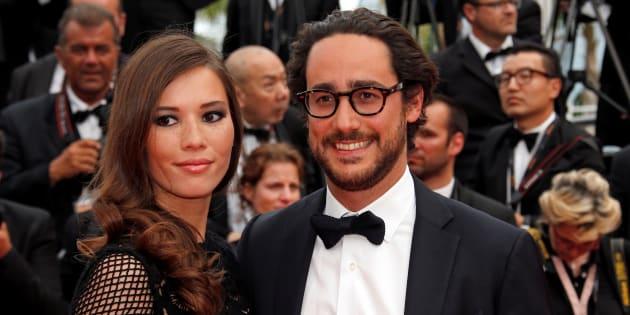 Thomas Hollande et Emilie Broussouloux en amoureux au Festival de Cannes le 26 mai 2017.